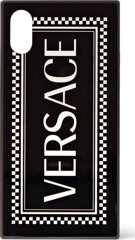 Versace Logo-Print iPhone X Case