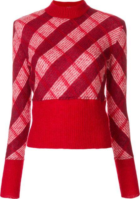 Miu Miu check cropped jumper