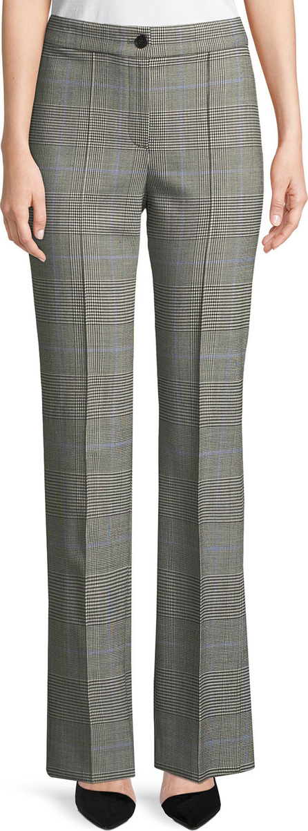 Theory Cardinal Straight-Leg Portland Windowpane Trousers