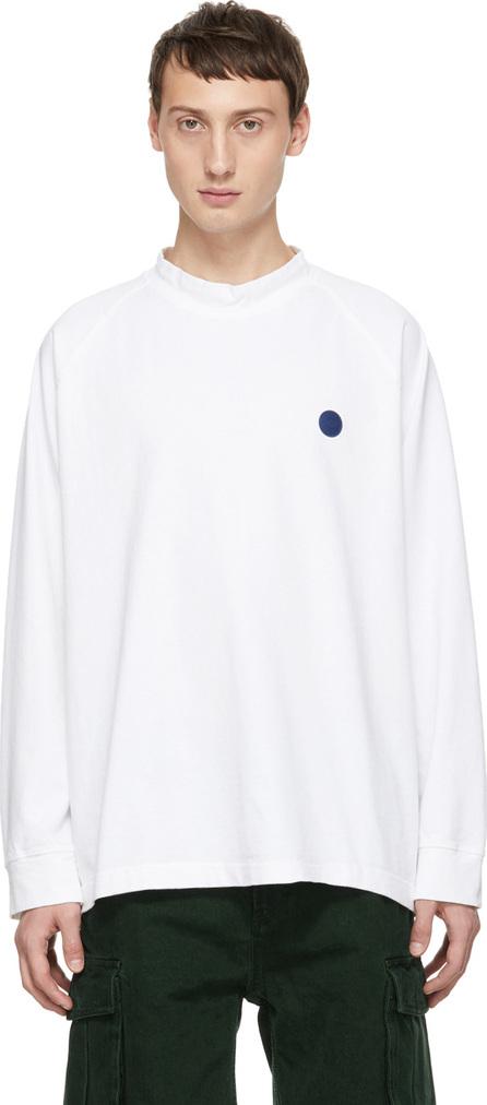 Acne Studios Blå Konst White Carp Uni T-Shirt