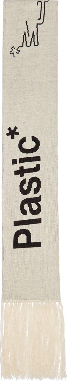 A-Cold-Wall* Beige & Black 'Plastic Fabrics' Scarf