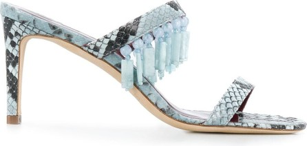 Staud Raoule 90mm snakeskin-effect sandals