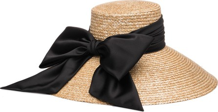 Eugenia Kim Mirabel Textured Straw Sun Hat w/ Satin Bow