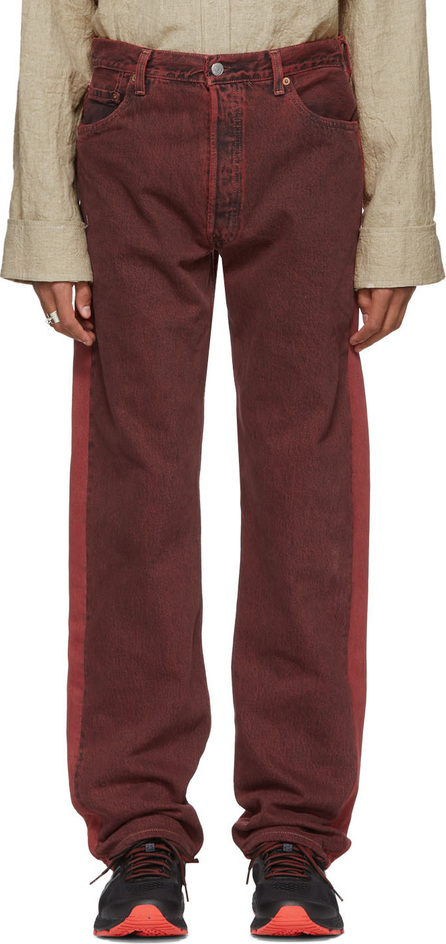 Bless Red Levi's Edition Two-Tone Pleatfront Jeans