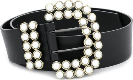 Philosophy Di Lorenzo Serafini Pearl embellished buckle belt
