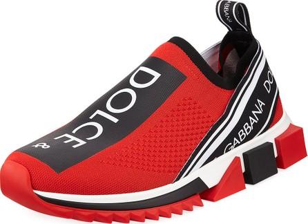 Dolce & Gabbana Men's Sorrento Logo-Stripe Sock Sneakers