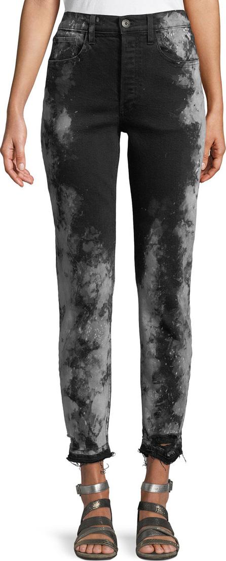 3X1 W3 Higher Ground Cropped Jeans w/ Distressed Hem