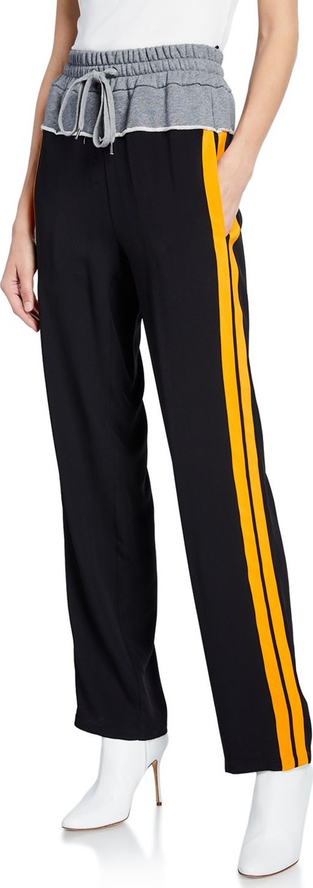 Nº21 Jogger Trousers Pants w/ Contrast Side Stripes