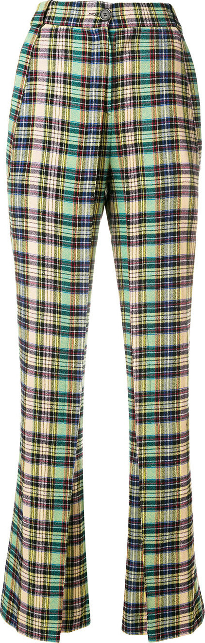 Aalto Checked flared trousers
