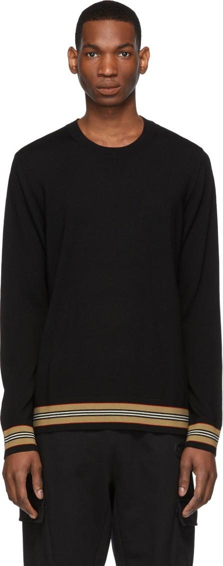 Burberry London England Black Merino Icon Stripe Sweater