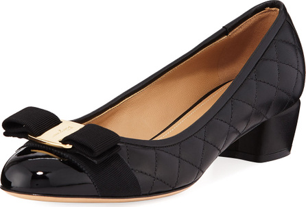 Salvatore Ferragamo VaraQ Quilted Bow Ballet Pumps
