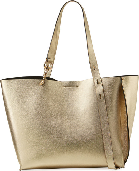 Rebecca Minkoff Stella Large Metallic Leather Shoulder Tote Bag