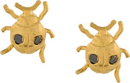 Alex Monroe ladybird stud earrings