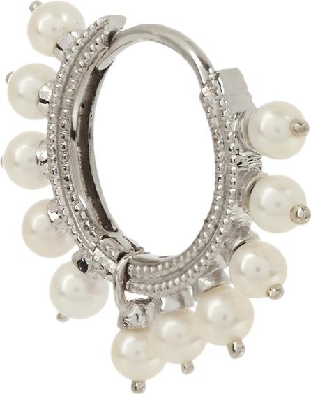 Maria Tash Pearl & white-gold earring