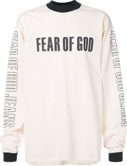 Fear of God Mesh logo print T-shirt