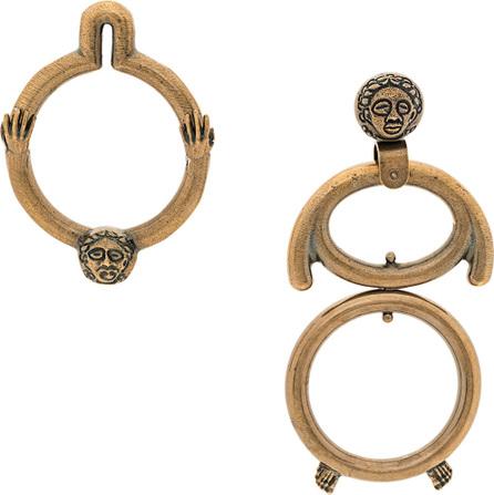 Carven Asymmetric disc earrings