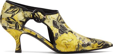 Erdem Marguerite floral-jacquard pumps