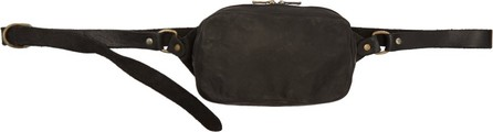 Guidi Black Soft Leather Fanny Pack