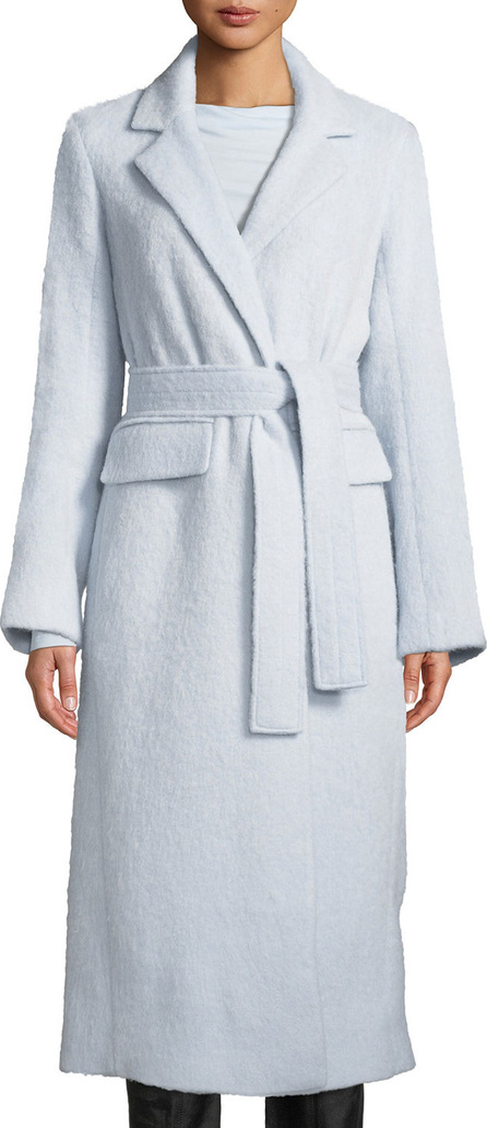 Vince Belted Single-Button Wool-Blend Long Coat