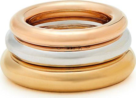 Charlotte Chesnais Brahma silver, gold & rose-gold vermeil rings