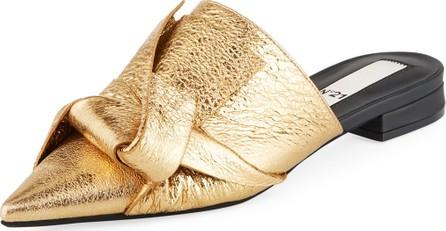 Nº21 Crash Knotted Metallic Mules