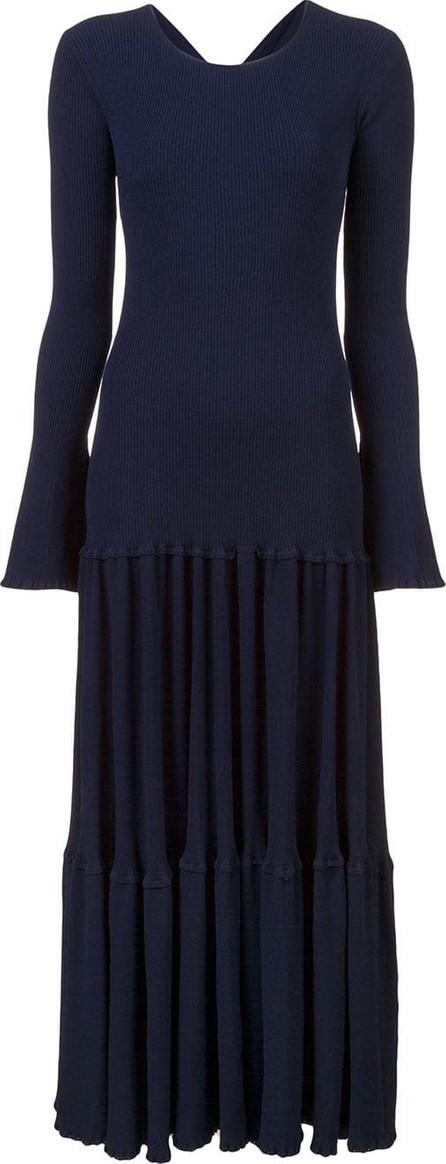Carolina Herrera Pleated knit dress
