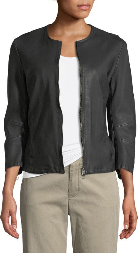 ATM Anthony Thomas Melillo Collarless Leather Moto Jacket