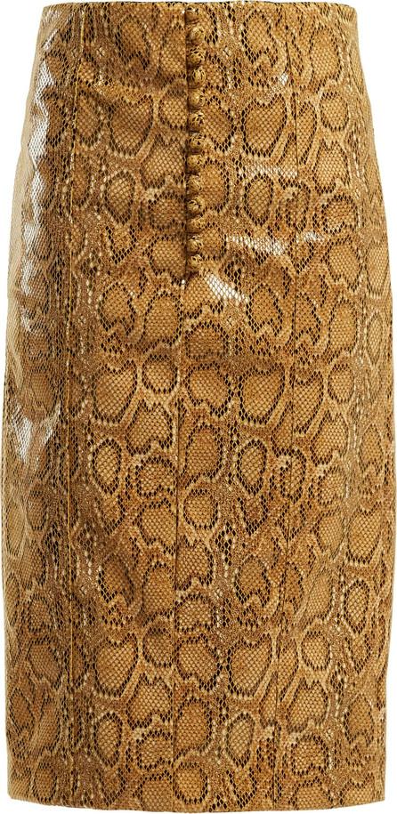 Hillier Bartley Faux-python pencil skirt