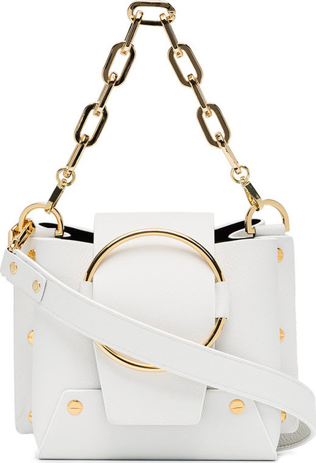 Yuzefi White Delila mini leather cross-body bag