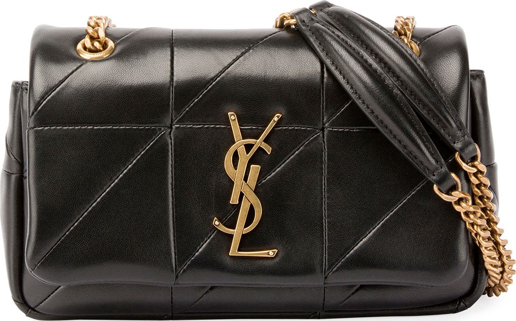 Saint Laurent Jamie Monogram YSL Small Diamond-Quilted Chain Shoulder Bag 61d88945c1d74