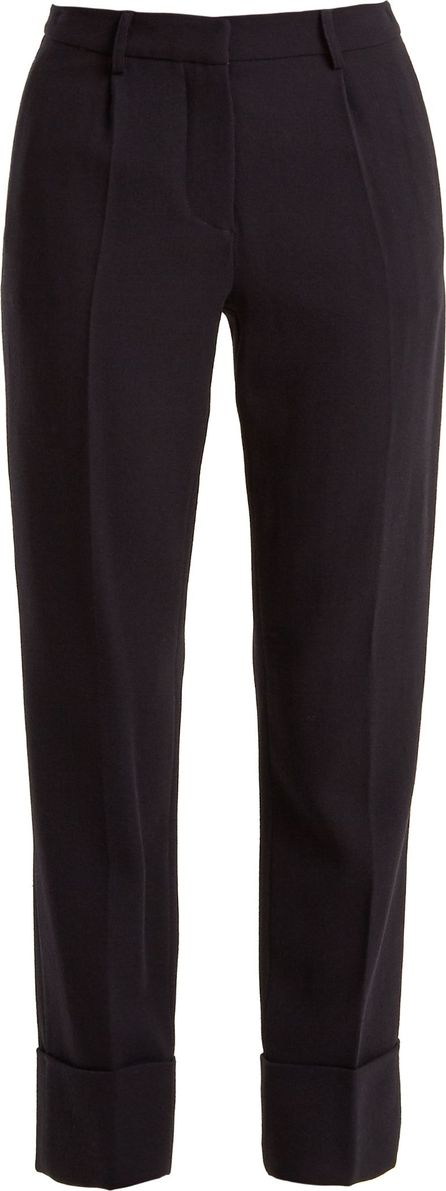 Goat Cooper navy-crepe trousers
