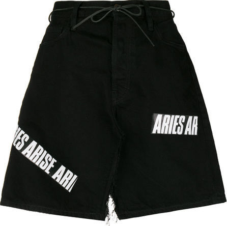 Aries Logo deconstructed denim skirt