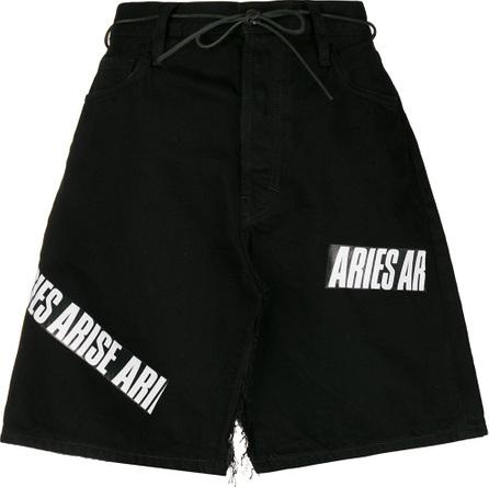 Aries Logo deconstructed denim skirt