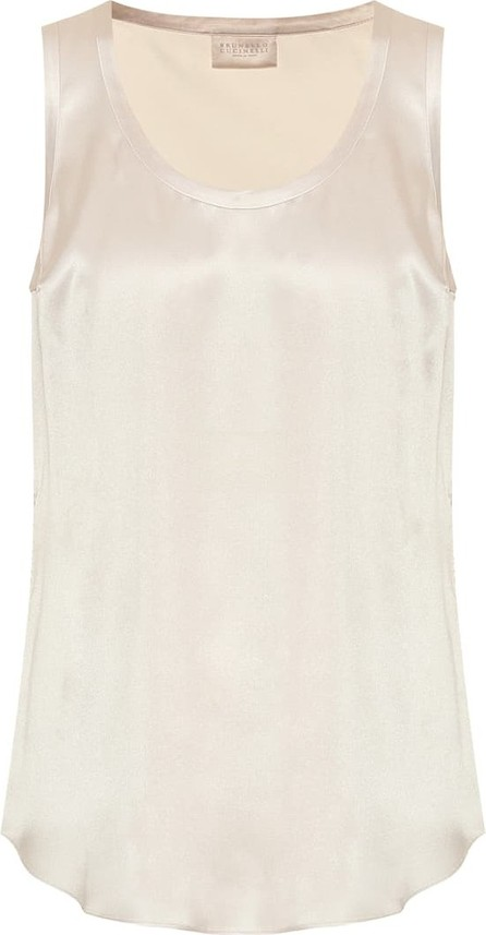Brunello Cucinelli Stretch-silk tank top