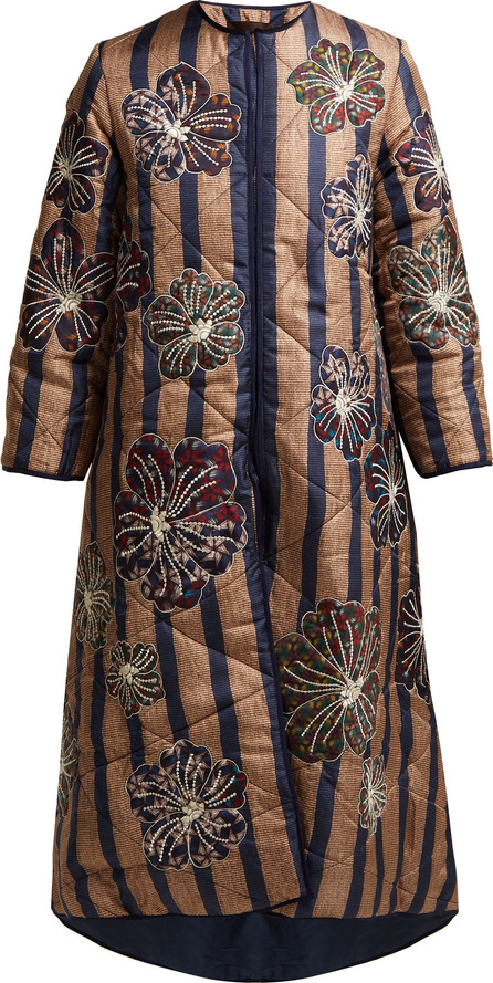 Biyan Hedvig quilted silk coat