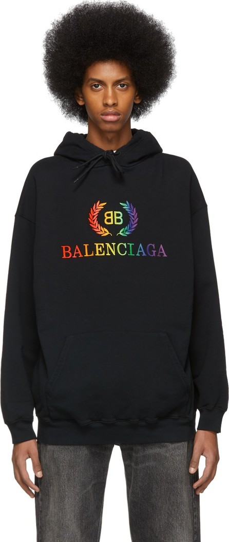 Balenciaga Black Rainbow 'BB' Hoodie