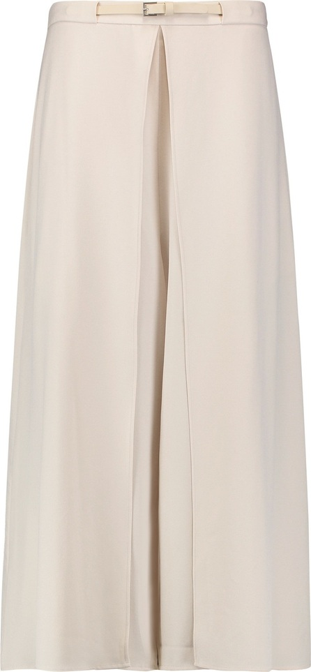 HALSTON HERITAGE Belted skirt-effect jersey wide-leg pants