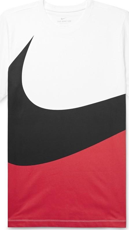Nike Printed Colour-Block Cotton-Jersey T-Shirt