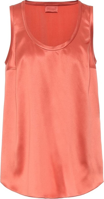 Brunello Cucinelli Exclusive to Mytheresa – Stretch-silk tank top