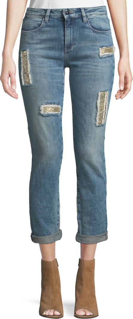 Brockenbow Club 55 Lily Slim Skinny Jeans w/ Embroidery