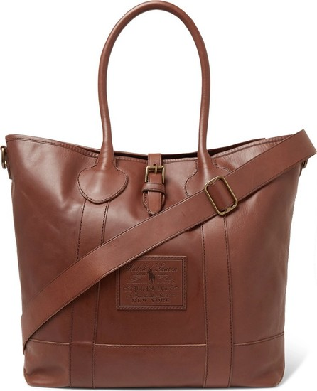 Polo Ralph Lauren Leather Tote Bag
