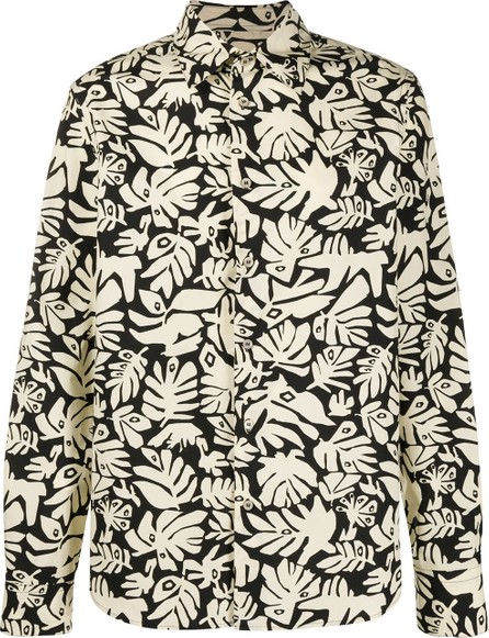 Marni Tropical leaf print shirt