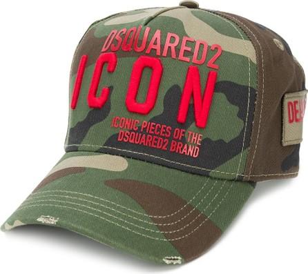 DSQUARED2 Icon camouflage-print cap