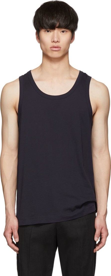 Dries Van Noten Navy Hawkes Tank Top