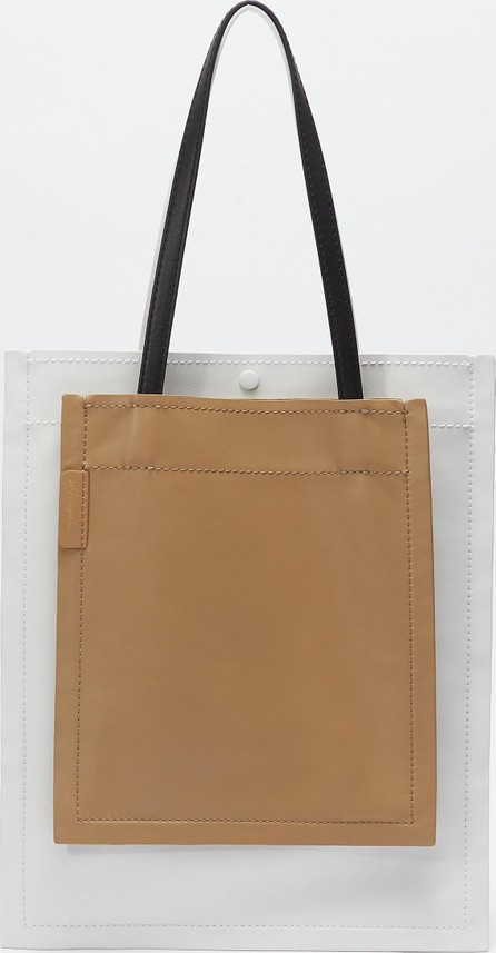 3.1 Phillip Lim Colourblock accordion shopper tote