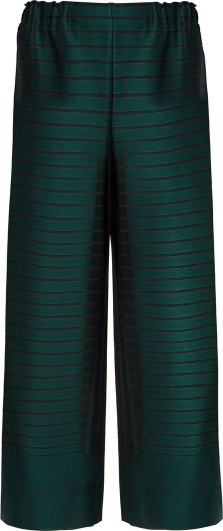 Issey Miyake Woody Ripple wide-leg striped trousers