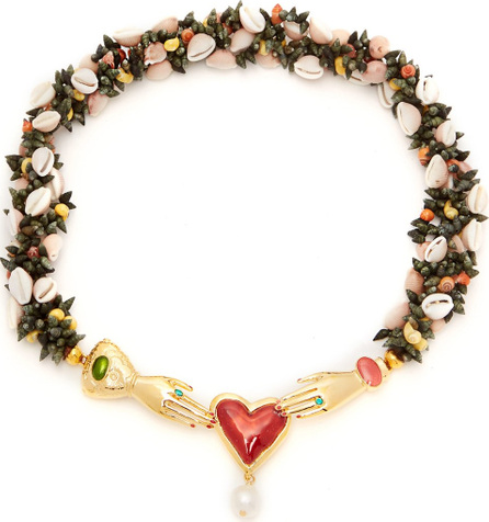Heimat Atlantica Iris embellished shell necklace