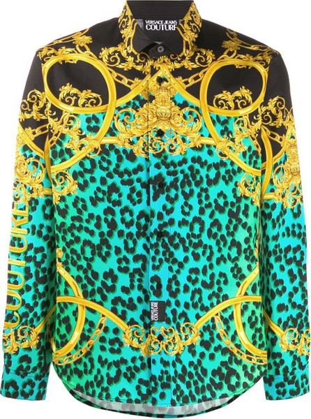 Versace Jeans Couture Leo Chain-print cotton shirt