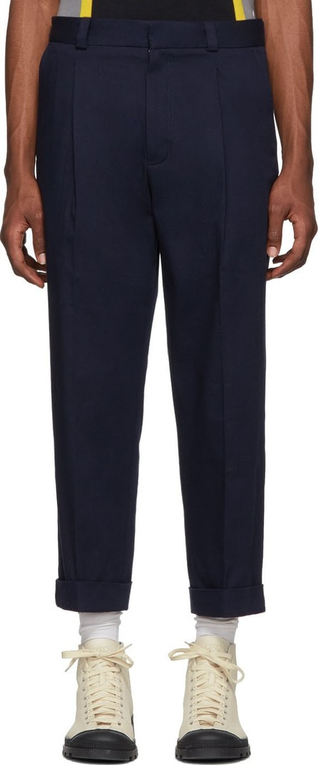 Acne Studios Navy Cropped Pierre Trousers
