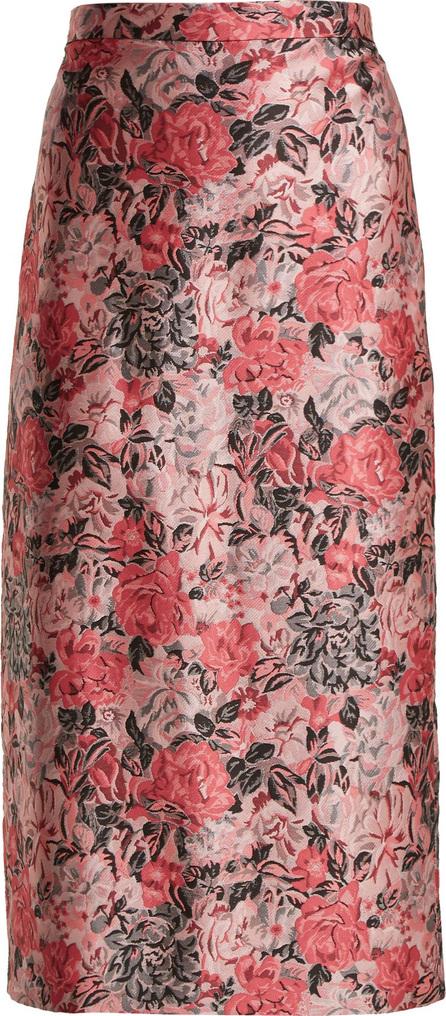 Erdem Maira rose-jacquard pencil skirt